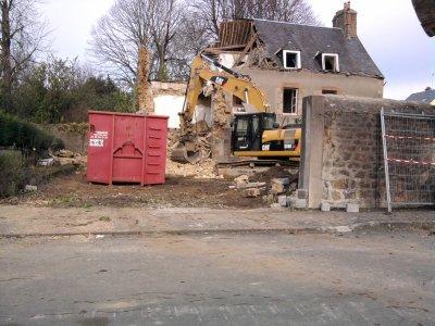 Suite de la démolition de la maison