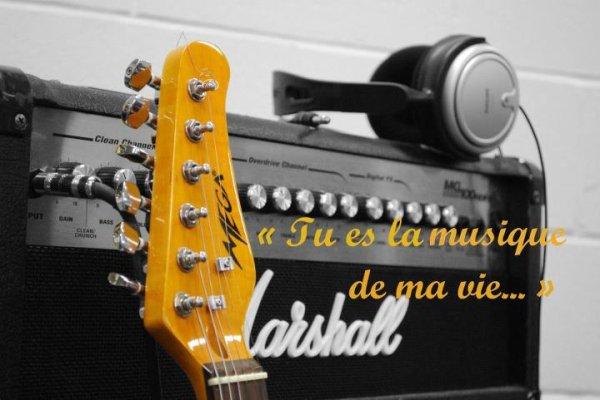 La musique, la plus grande partie de ma vie !