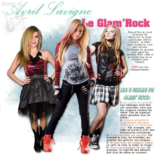 Swag Of Avril Lavigne, le Glam'RockDATE: 16/08/11