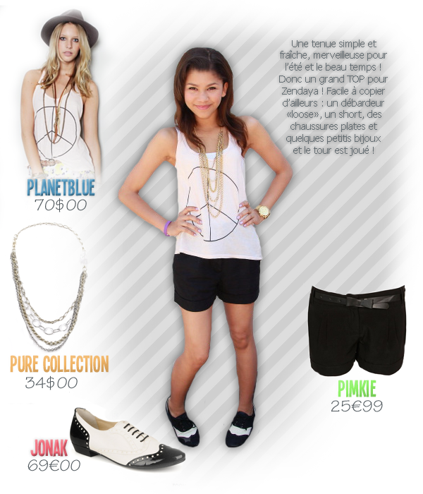Dress Like Zendaya Coleman, look d'étéDATE: 02/11/11