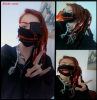 nouvelle création ^^ masque inspirée de ken kaneki (tokyo ghoul)