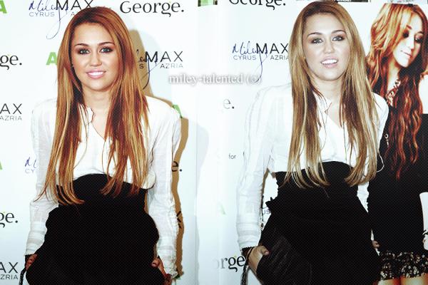 « Miley Cyrus & Max Azria » chez Asda à Derby, UK – le 9 novembre 2010