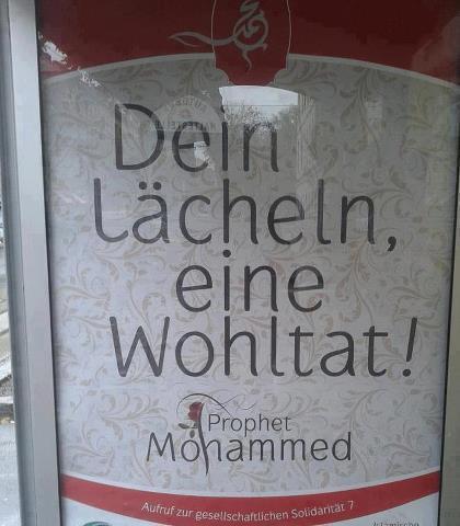 Autriche : campagne d'affiche dans les stations avec un hadith du Prophète  salla Allah alayhi wa salam