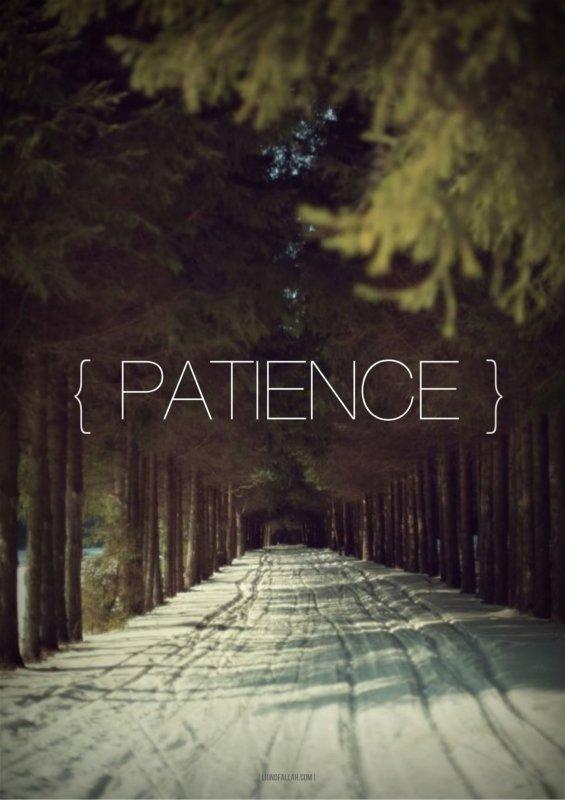 Un salaf à dit: Qu'est ce que le courage? il dit: une patience d'une heure [Ibn aby douniya 4/30]
