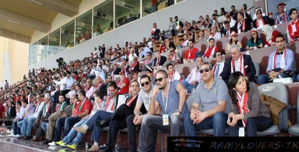 RAMY AYACH Support Lebanon national team against UAE national Team