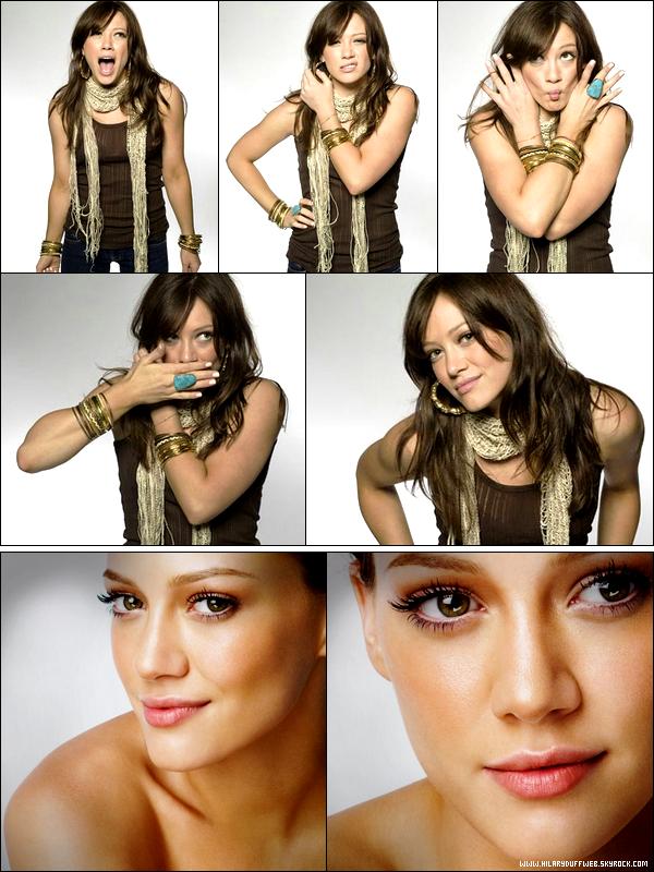 . FLASHBACK ~ Belle, drôle, simple; deux photoshoots de la Duff comme vous ne l'avez jamais vue datant de 2007. .
