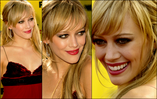 . FLASHBACK (14 Août 2005) ~ Hilary maigre comme un cure-dent lors des Teen Choice Awards 2005; un vrai cadavre ambulant... .