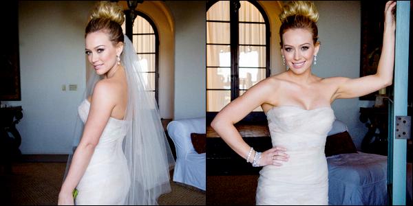 . Aujourd'hui, 14 Août 2011, Hilary & Mike fêtent leur 1° année de mariage. _.Plein de bonheur au couple !  .