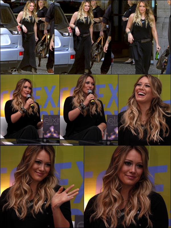 . 03, 04 et 05 Sept. : Hilary au Brésil pour la promo' de son roman « Elixir ». Interviews et séances de dédicasses étaient au RDV !  .