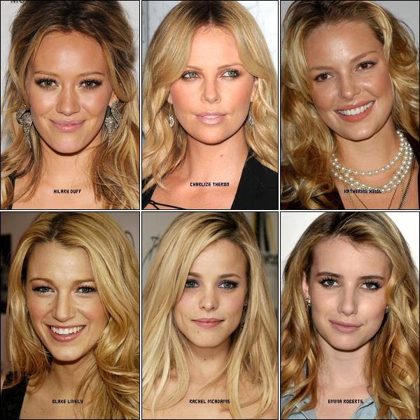 .  Elles sont toutes blondes, belles, riches et surtout célèbres mais laquelle est ta favorite ? Dis moi...     .
