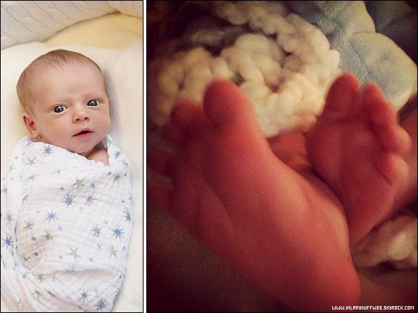 . En exclusivité sur HDW, découvrez les premières photos du petit Luca grâce aux publications d'Hil' sur Twitter.-♥ .
