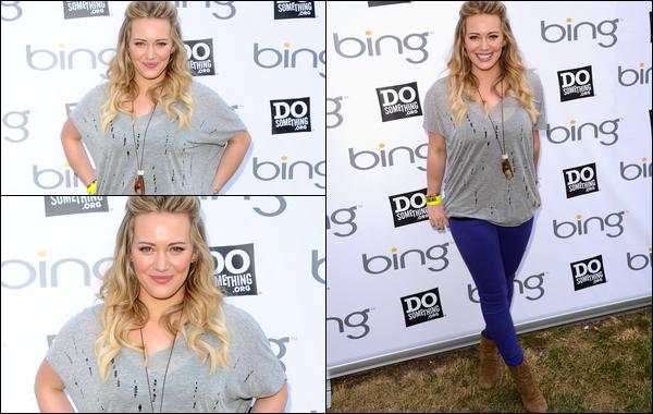 . Vendredi 01 Juin : Hil' participant dans la joie et la bonne humeur à l'évènement « Bing Summer of Doing Kickoff » à Los Angeles. .