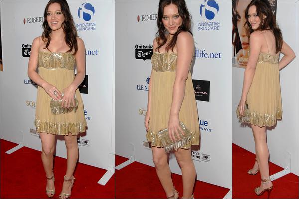 . FLASHBACK (22 Avril 2007) ~ La Duff & sa beauté naturelle, coopérant à la 9ème cérémonie des Young Hollywood Awards. .