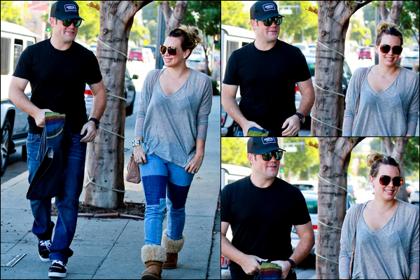 . 27/10/12 : Après un déjeuner en amoureux dans un restaurant, les jeunes parents se promenaient dans les rues de Los Angeles..