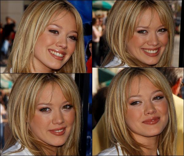 . FLASHBACK (08 Mars 2003) ~ H. présente avec ses co-stars lors de la première du film « Cody Banks, Agent Secret » à L.A. .