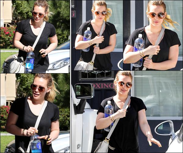 . 15/02/13 : La Duff allant et quittant, avec le sourire, sa petite séance de pilates située à Los Angeles. .Une véritable religion !.