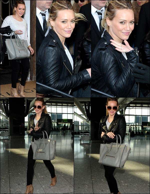 . 20/02/13 : Madame Duff quittant son hôtel de Londres et allant ensuite à l'aéroport de la ville pour repartir à Los Angeles....