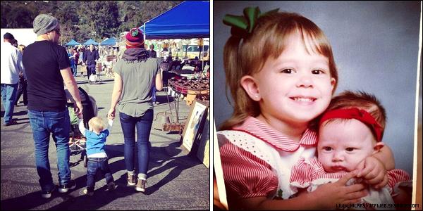 """. 10/03/13 : Notre famille adorée se rendant et sortant de la boutique """"Western Bagel"""" située dans un quartier de Los Angeles.."""