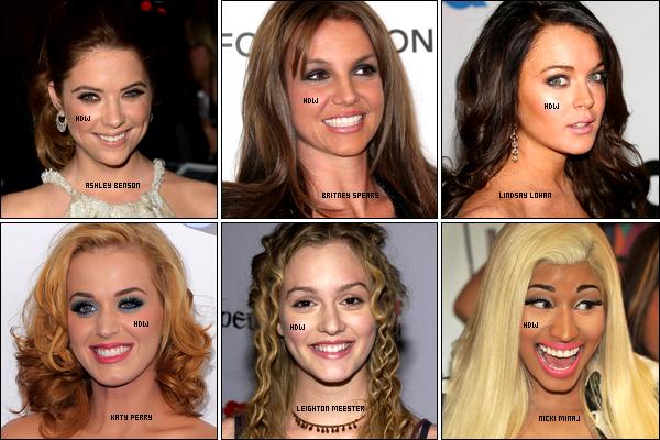 .  ✰_. Article spécial sur HDW : Brune ou Blonde, telle est la question mais surtout ta décision !    . Vous n'êtes pas sans savoir que la plupart des stars Americaines ne peuvent pas rester en place niveau capillaire et qu'elles ne cessent de changer leur coupe ainsi que leur couleur de cheveux. Le plus flagrant, c'est qu'une blonde la plupart du temps opte pour une coloration brune, et la brune l'inverse... Et on peut bien voir cet aspect chez nos stars féminines favorites, car nos demoiselles sont toujours indécises et nous font voir de toutes les couleurs ! Hilary Duff, Emma Roberts, Ashley Tisdale, Rihanna, Rachel McAdams, Miley Cyrus, Demi Lovato, Kristen Stewart ainsi que Jennifer Lawrence sont celles que j'ai sélectionné pour que vous puissiez choisir votre préférée, qu'elle soit en brune ou blonde. Alors parmi toutes ces belles femmes, laquelle préférez-vous en brune, en blonde et (ou) avec les deux colorations ?  .