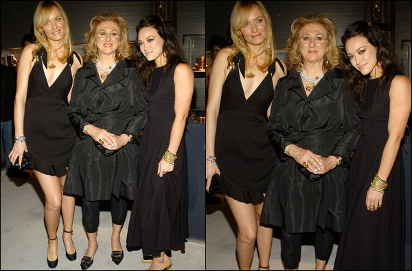 . FLASHBACK (11 Janvier 2007) ~ Hilary participant à l'inauguration d'une boutique de bijoux du designer David Yurman. .