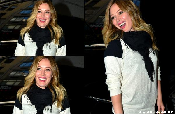 """. 02/05/13 : Hil' quittant les studios de la FOX après y avoir enregistré une interview pour l'émission """"Good Day New York"""".."""