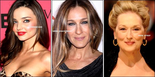 . ✰__ .Quelle est ta maman préférée parmi toutes ces stars de différentes générations ? À toi de choisir ! .