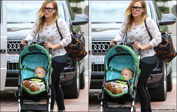 . 15/05/13 : H&L faisant quelques courses à Beverly Hills. Dans la même journée, elle allait à son cours pour mamans; photos..