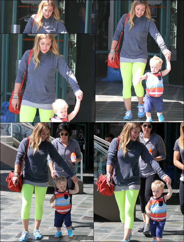 ". 31 Juillet 2013 : Hilary et Luca arrivant ensemble au centre sportif pour enfants ""A Fit For Kids"" situé à Hollywood.."