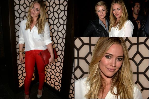. 18 Septembre 2013 : Miss Duff assistant à une soirée organisée pour le lancement de la Vodka Vallure à Beverly Hills..