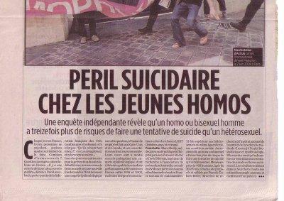 Le suicide, un mal homosexuel ?
