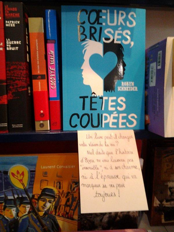 Exposition du livre en librairie