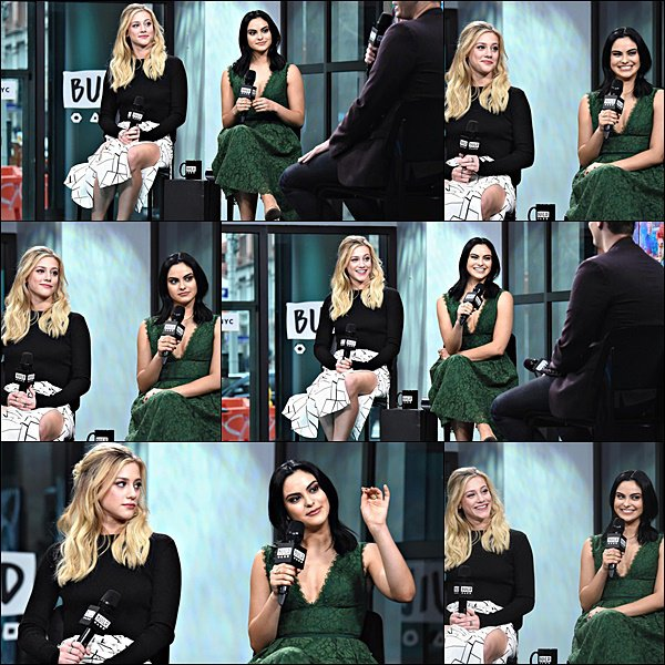 26/01/17 : Camila Mendes et Lili Reinhart se sont rendues sur le plateau d'AOL Build Series à New York.