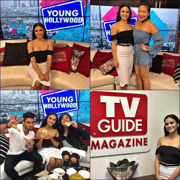 03/04/17 : Notre Camila Mendes s'est rendue à TV Guide et Young Hollywood pour promouvoir Riverdale.