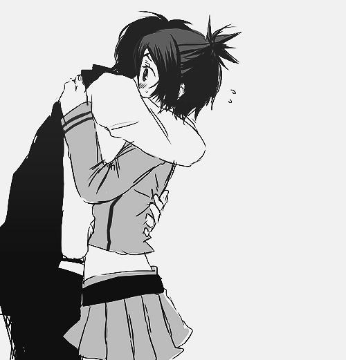 Image manga couple en noir et blanc blog de lauro17 - Image manga couple ...