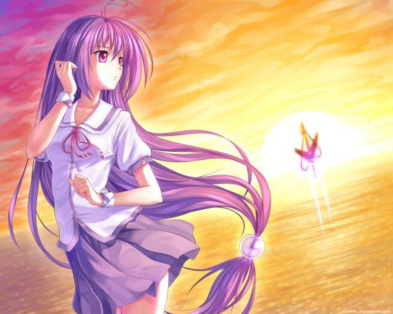 Image manga fille cheveux violet blog de lauro17 - Fille de manga ...