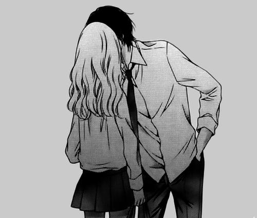 Image manga couple noir et blanc 19 blog de lauro17 - Image manga couple ...