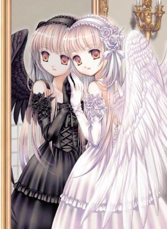 ange ou demon manga quelque chose que j'aime bien
