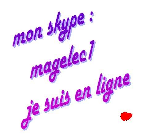 mon skype ; magelec1