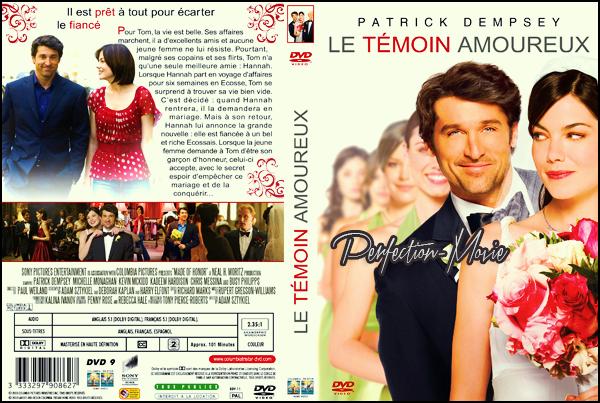 . ► Catégorie Film Romantique : Le Témoin amoureux (Made of Honor) réalisée par Paul Weiland. Il est sorti le 18 juin 2008 en France avec comme acteurs principaux Patrick Dempsey et Michelle Monaghan et Busy Philipps . .