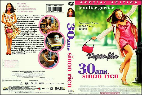 . ► Catégorie Comédie Romantique , Fantastique : 30 ans sinon rien (13 Going on 30) est un film américain réalisé par Gary Winick, sorti en 2004 avec comme acteurs principaux du film Jennifer Garner et Mark Ruffalo .  .