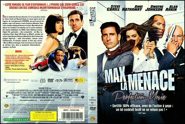. ► Catégorie Espionnage , Action , Comédie : Max la Menace (Get Smart) est un film américain réalisé par Peter Segal sorti en 2008 construit à partir de la série télévisée éponyme avec comme acteurs principaux Steve Carell et Anne Hathaway .  .