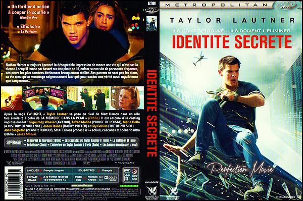 . ► Catégorie Action , Thriller : Identité secrète (Abduction) est un film américain de John Singleton sorti le 23 septembre 2011 avec comme acteurs principaux Taylor Lautner , Lily Collins , Alfred Molina . .