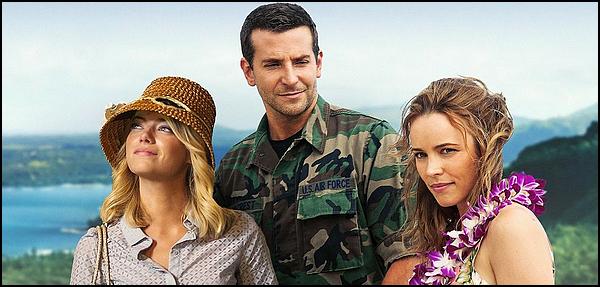 . ► ● Catégorie Film Romantique : Welcome Back ( Aloha ) est une comédie romantique américaine coproduite et réalisée par Cameron Crowe et qui est sortie en 2015 avec comme acteurs principaux  Bradley Cooper, Emma Stone, Rachel McAdams . .