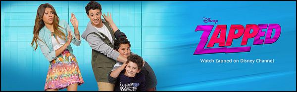 . ► ● ● Catégorie Film Comédie Fantastique : Zapped : Une application d'enfer ! est un film réalisé par Peter DeLuiseet diffusé le 23 Septembre 2014 sur Disney Channel France avec comme acteurs principaux Zendaya, Chanelle Peloso, Spencer Boldman .  .