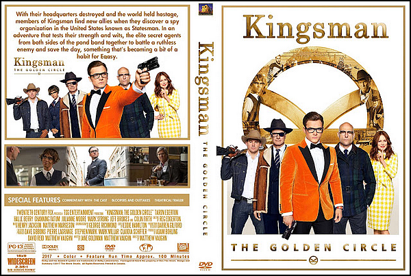 . ► ● ● Catégorie Film de Comédie et d'Action et d'Espionnage : Kingsman : Le Cercle d'or (Kingsman: The Golden Circle) . Il s'agit de la suite de Kingsman : Services secrets avec comme acteur principaux Taron Egerton , Colin Firth , Julianne Moore , Mark Strong , Halle Berry & pour finir Channing Tatum . ● ●  .