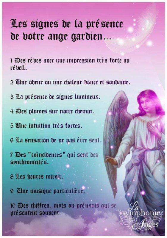 Reconnaître les signe que ton ange gardien est avec toi