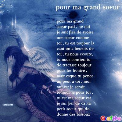Un Poeme Pour Ma Grand Soeur Pati Rose Bleux