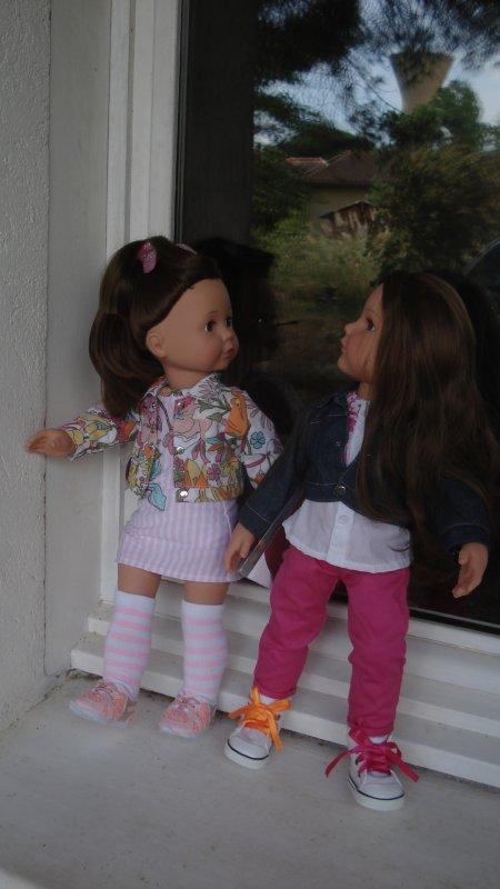 Hannah est venue à la rencontre de sa cousine