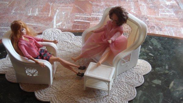 salon de Barbie trouvé par mon mari à un VG des P.O