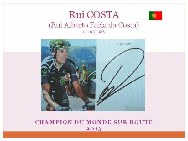 et le dernier champion du monde route  rui costa